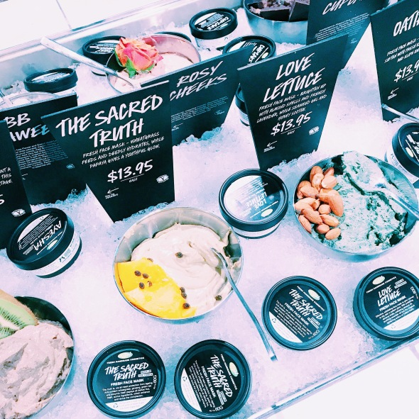 LUSH Cosmetics Fresh Face Masks