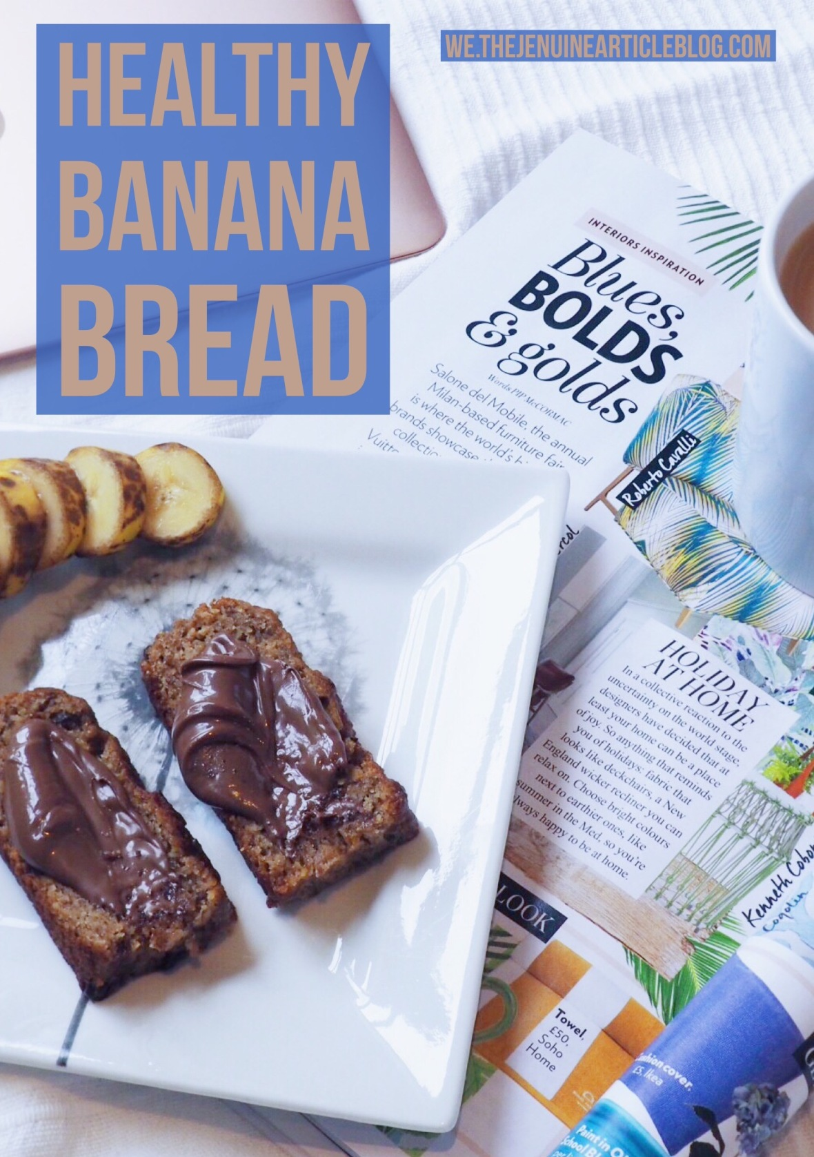 Comforting, indulgent, delicious and good for you. This banana bread is the perfect guilt-free pick me up. Better yet, it's easy to make. Perfect for sharing with a friend or as a perfect accompaniment to a Netflix binge.